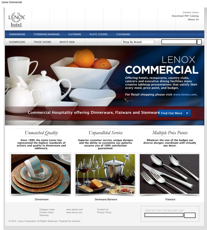Lenox Americau0027s Brand Launches Lenox Commercial Website for Hospitality Line  sc 1 st  TabletopJournal & Lenox: Americau0027s Brand Launches Lenox Commercial Website for ...